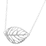 Silhouette Leaf Necklace ~ Solid Sterling Silver