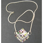 Artist-Crafted Sterling Silver & Mixed Gemstone Dangle Necklace