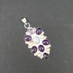 Artist-Crafted Sterling Silver & Amethyst Pearl Pendant