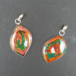 Artist-Crafted Sterling Silver Mixed Dichroic Glass Pendant