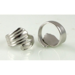 Adjustable Silver Plated Spoon Ring