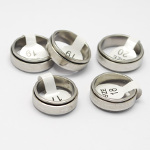 Mixed Etched Stainless Steel Spinner Rings Laser Band Decoration