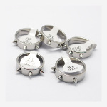 High Quality Stainless Steel 3 Spike Punk Biker Rings