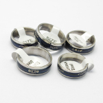Mixed Engraved Stainless Steel Mood Rings