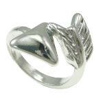 Silver Tone Metal Wrapped Arrow Ring Southwest Size 6.5