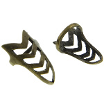 Bronze Tone Reticulated Arrow Spike Punk Ring Size 4