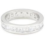 Sterling Silver Clear CZ Eternity Ring