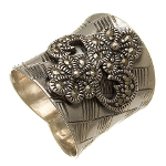 Sterling Silver Marcasite Flower Blossoms Ring