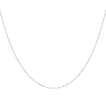 "Sterling Silver Chain - Rhodium Plate 18"" 2mm"