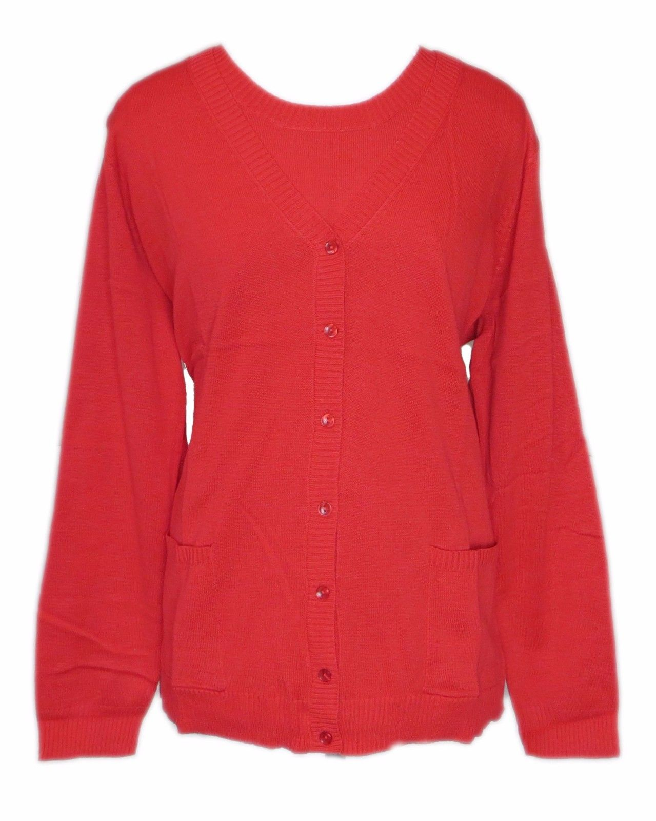 Size S Denim & Co. Sweater Set in Red