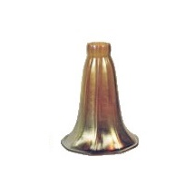 Fluted Lily Favrile Glass Lamp Shade ~ Large