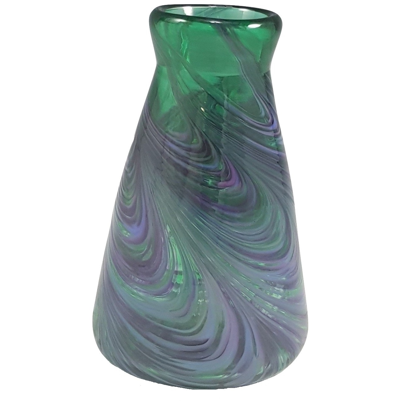 Angle Vase in Cool Mix Green