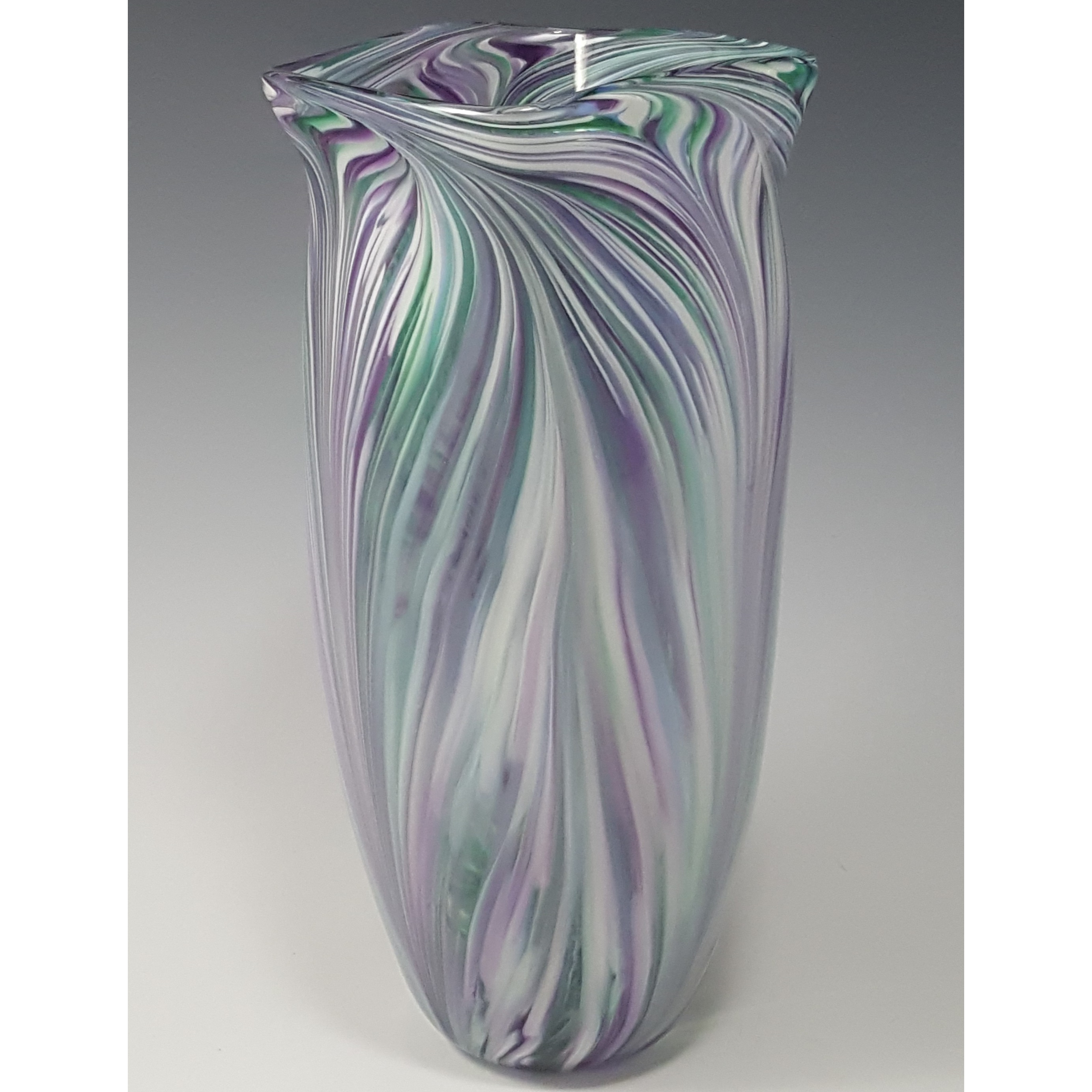 Peacock Vase in Cool Mix