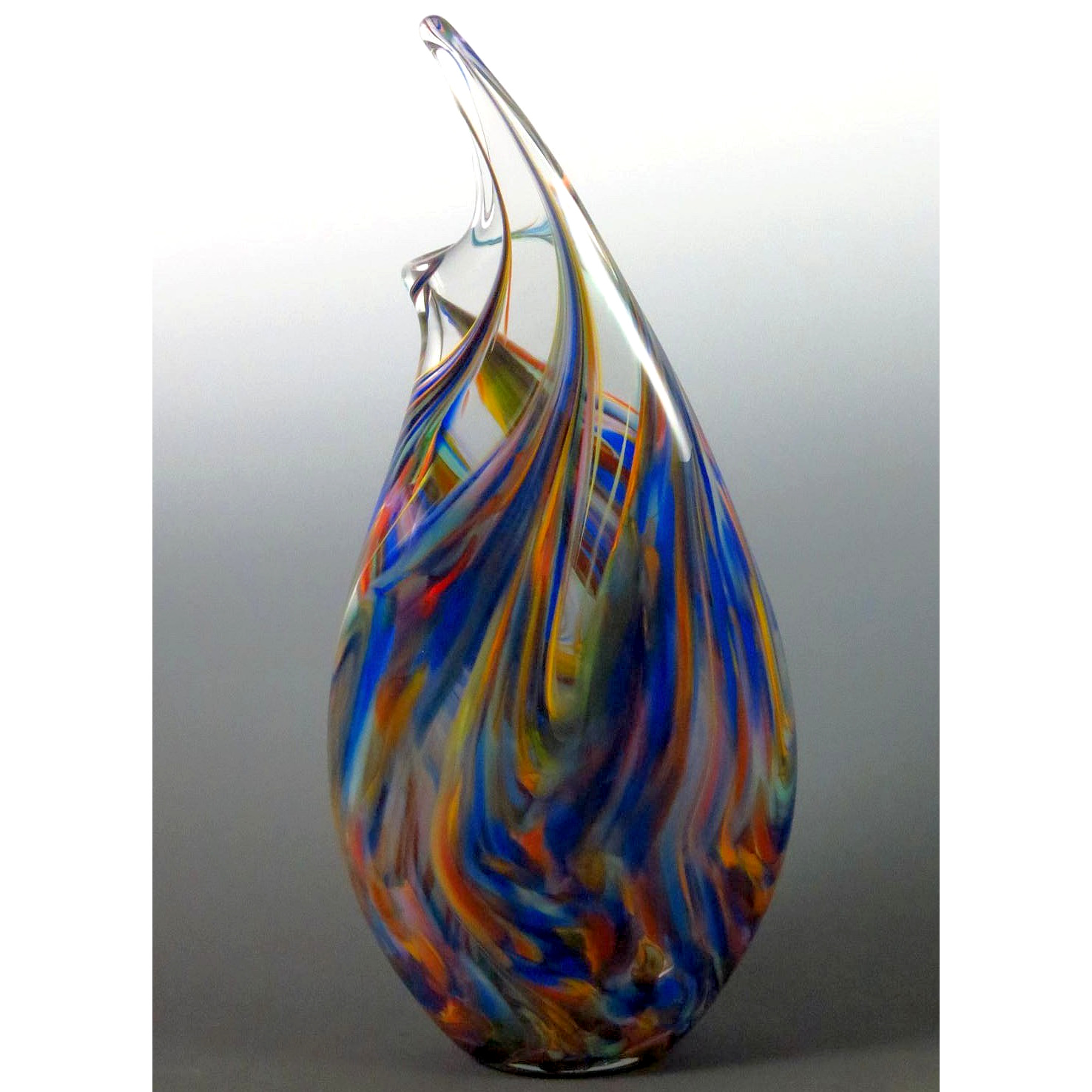 Wave Vase in Rainbow