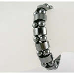Magnetic Hematite Bead Stretch Bracelet