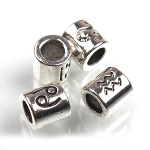 Mixed Tibetan Silver Astrologic Zodiac Sign Spacer Bracelet Bead