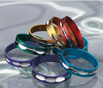 Mixed Diamond Cut Colored Aluminum Rings